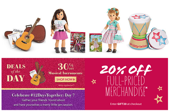 Coupon Codes & Offers From American Girl. To find the latest American Girl coupons and sales, just follow this link to the website to browse their current offerings. And while you're there, sign up for emails to get alerts about discounts and more, right in your inbox.