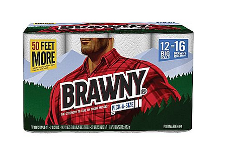 Brawny Pick A Size Paper Towels 12 Big Roll Pack Only 10