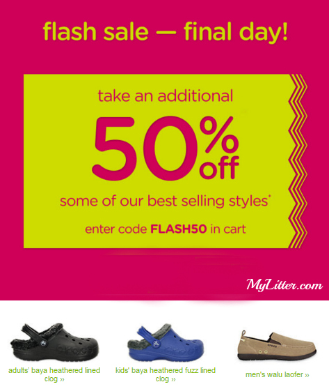 20001410a4191e Crocs - 50% off Flash Sale - FINAL DAY! - MyLitter - One Deal At A Time