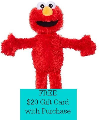 Playskool Sesame Street Play All Day Elmo Free 20 Gift Card Offer