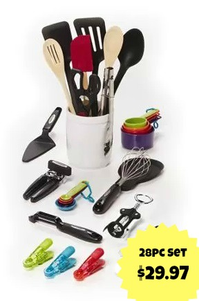 28pc Farberware Kitchen Accessory Set Only 29 97 Mylitter One