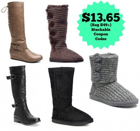 kohl s s boots as low as 13 65 after kohl s
