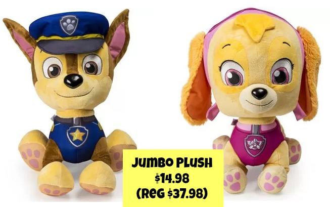 paw patrol chase skye jumbo plush only 14 98 was 37 98