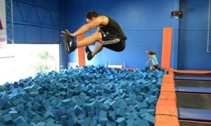 Indoor Trampoline Jump Sessions at Sky Zone Houston