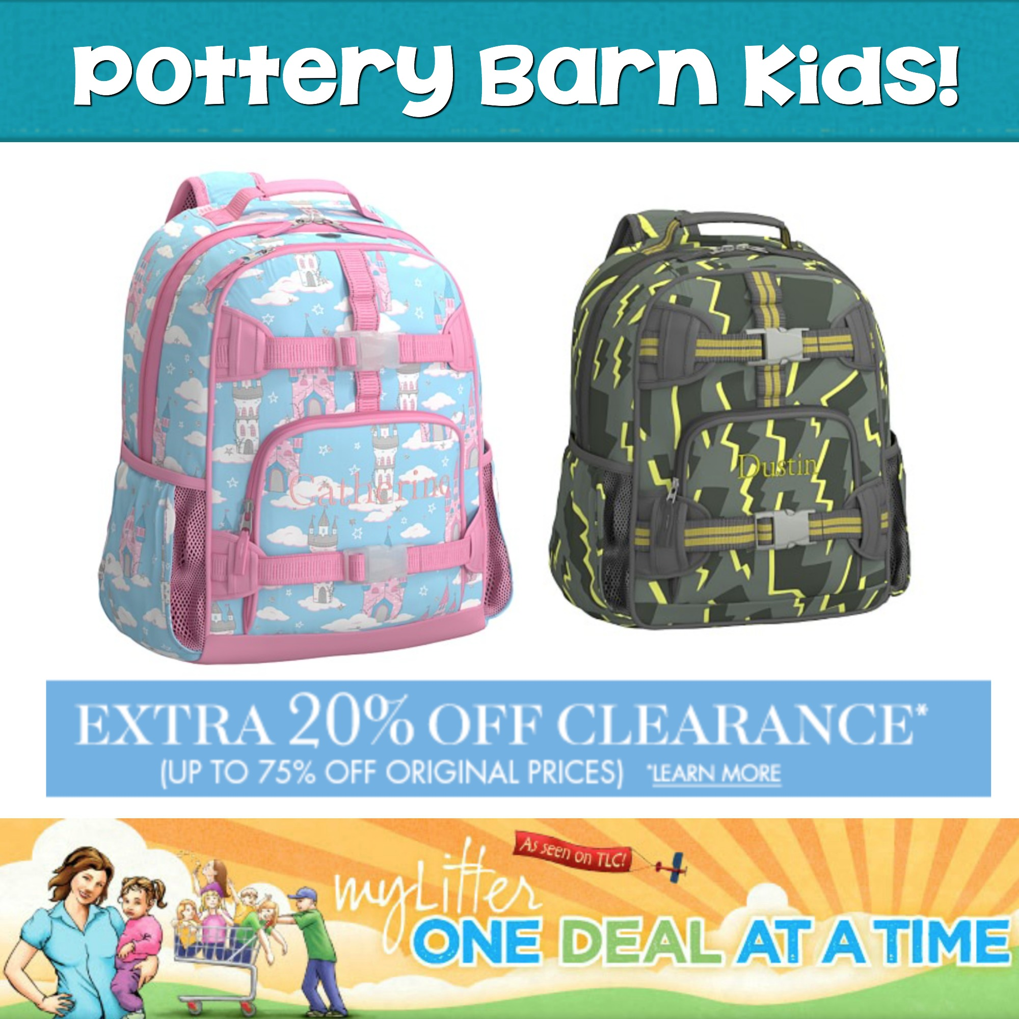 Pottery Barn Kids 20% off CLEARANCE items! - MyLitter - One Deal At A Time.  ` 19dab2b2cdd70