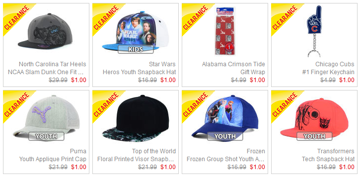c1278ad59d9f50 You can pick from hats, keychains, and even holiday items for $1.00 or less  with this clearance sale. Shipping is $4.99 Flat Rate with ever order right  now ...