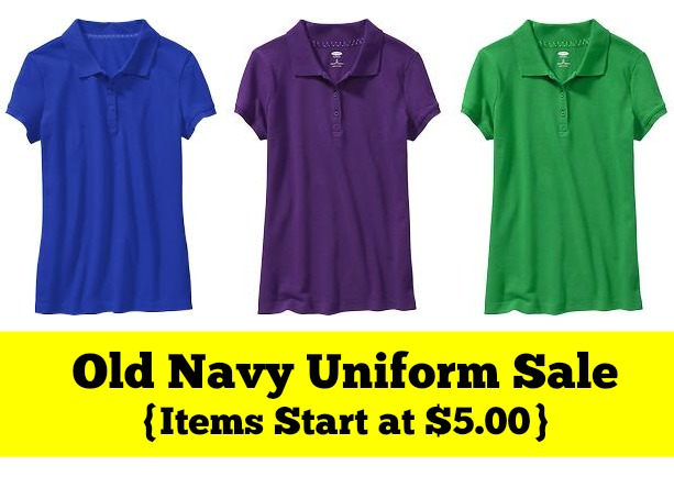 Old Navy Uniform Sale  Items start at  5.00  - MyLitter - One Deal ... 1c2e8f9f54506