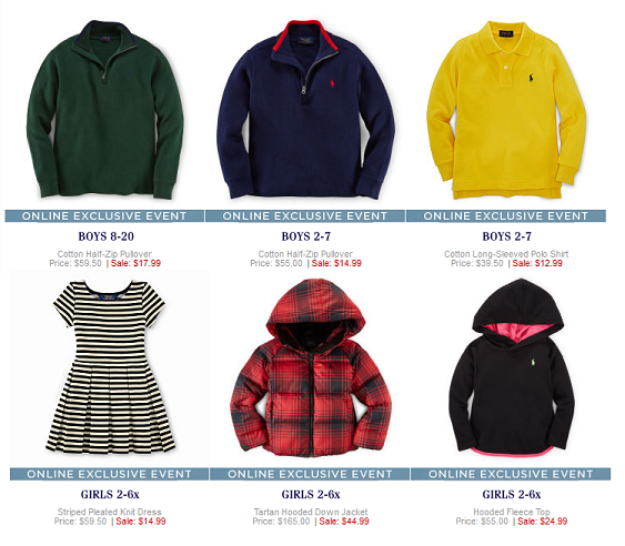 3b4154dd0 Ralph Lauren Children's Clearance Sale {Down Coats start at $44.99 ...