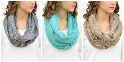 sparkle scarves