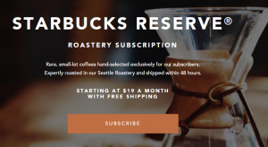 starbucks subscription