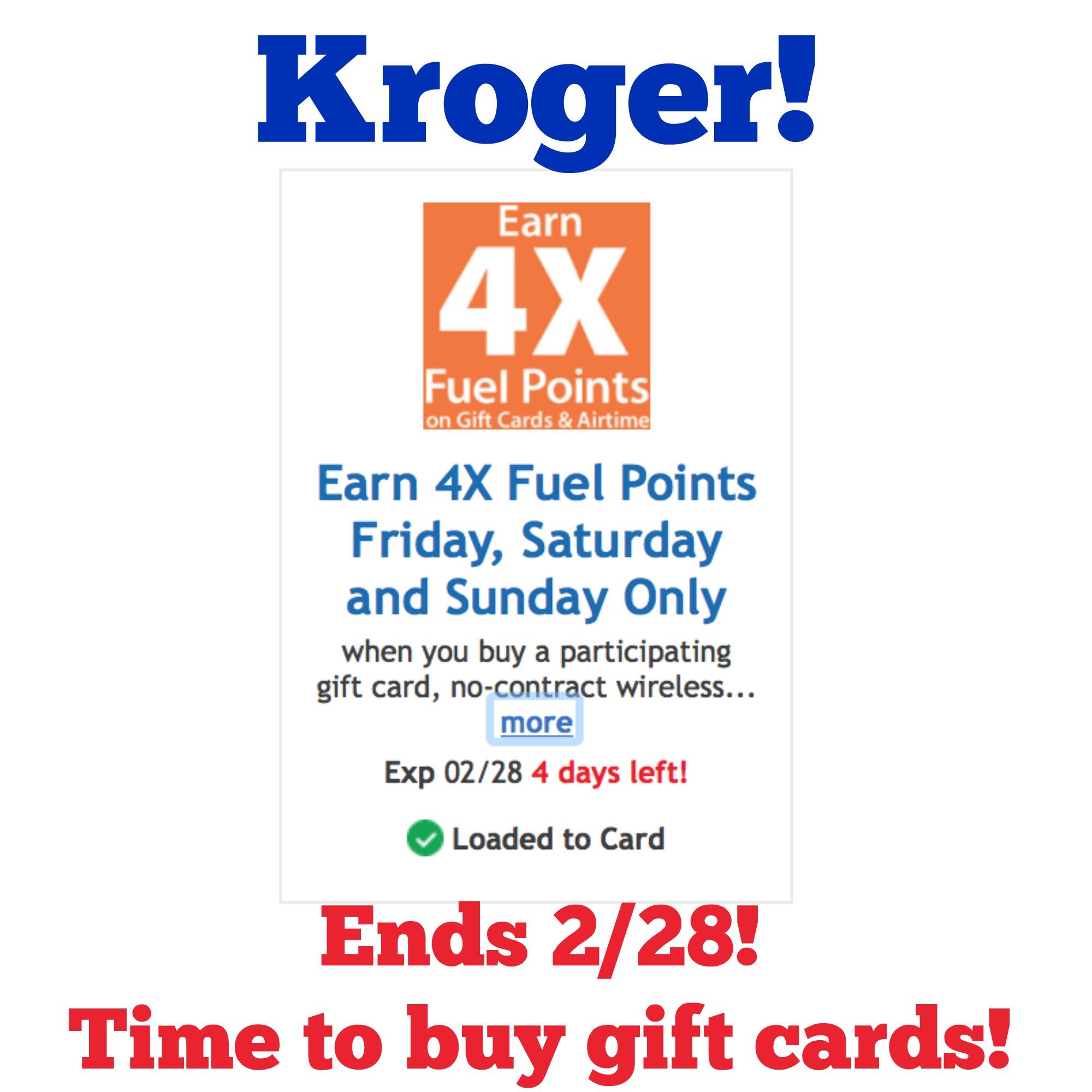 Kroger 4x coupon