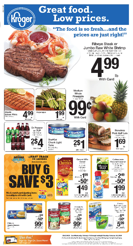 Kroger Weekly Deals and Mega List! – Feb 10th – 16th