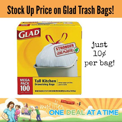 Stock up Price on Glad Trash Bags