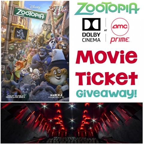 Zootopia Movie Ticket Giveaway