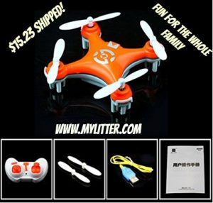 led helicopter orange ml
