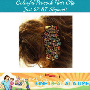 peacock hairclip ml