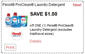 Persil Coupon for Canada. Save $ Off ANY ONE(1) Persil ProClean Laundry Detergent This Persil Coupon is available in Print or Mailed Format. Print Coupon Here - smartsource Print Coupon Here - hidden smartsource portal Print Coupon Here.