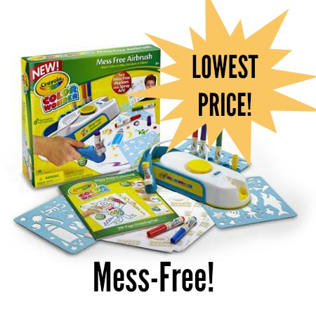 lowest price crayola color wonder mess free airbrush kit mylitter
