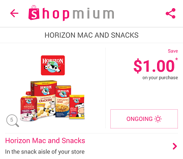 Shopmium snacks offer