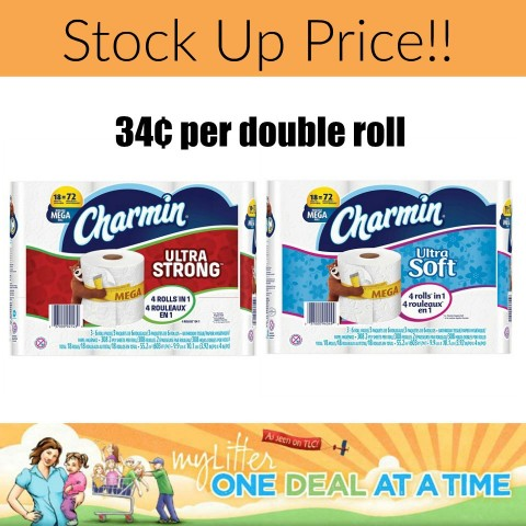 stock up price on charmin at target