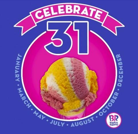 baskin robbins celebrate 31