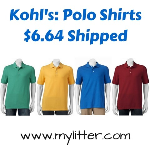 92df355cab5a Kohl s Cardholders  Men s Polo Shirts Only  6.64 Shipped - MyLitter ...