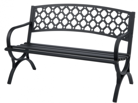 Living Accents Steel Park Bench Only 59 99 Plus 10 Off