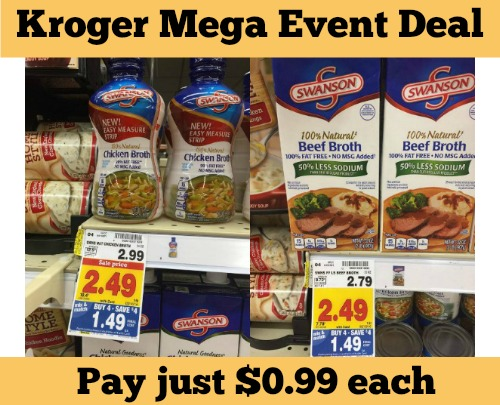 Kroger Mega Event: Swanson Brother only $0.99 each
