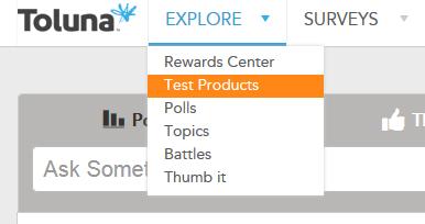 Toluna Test Products