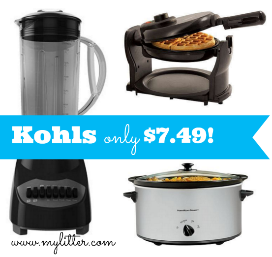 kohl's: small kitchen appliances only $7.49 shipped! - mylitter