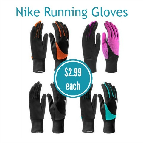Men's and Women's Nike Running Gloves only $2.99