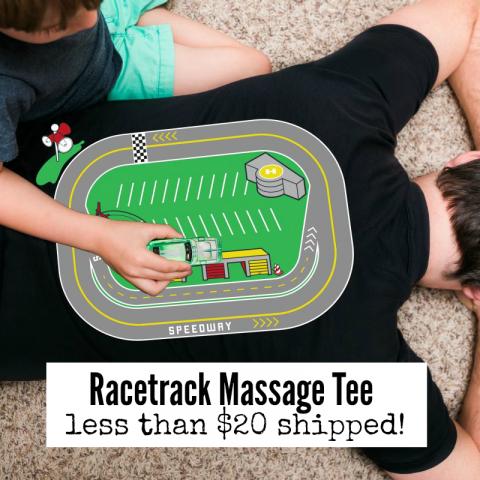 racetrack massage tee