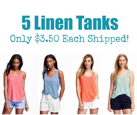 old navy linen tanks