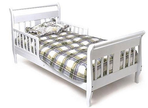 This Bed Has A Popular Sleigh Design And Is Equipped With Two Safety Rails Firm Mattress Support The Low Profile Makes It Easy For Your Toddler To