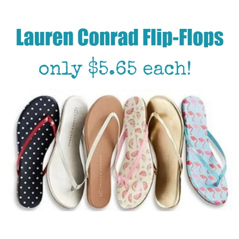 1cab72857 LC Lauren Conrad Women s Flip-Flops as low as  5.65 Each! - MyLitter ...