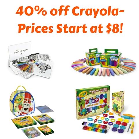 40% off Crayola-Prices Start at $8! (1)