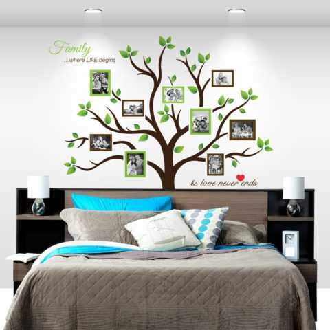 Amazon: Large Family Tree Photo Frames Wall Decal 50% off ...