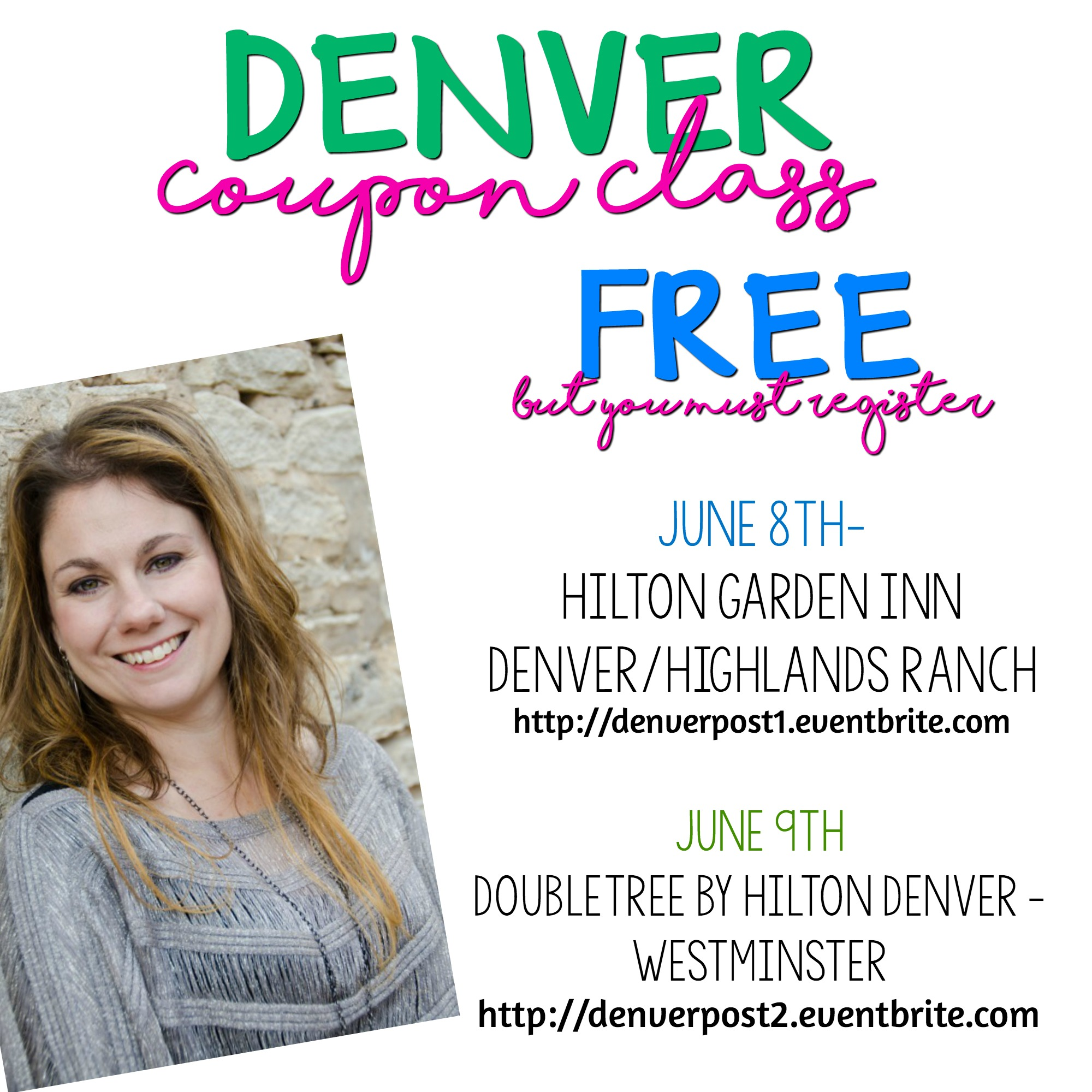 Denver Co. FREE Extreme Coupon Classes