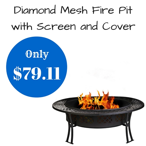 Diamond Mesh Fire Pit with Screen and Cover (1)