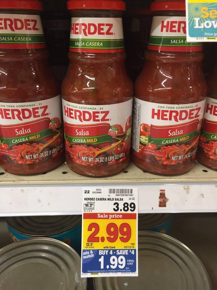 Kroger Mega Event: New Herdez Salsa Coupon Matchup
