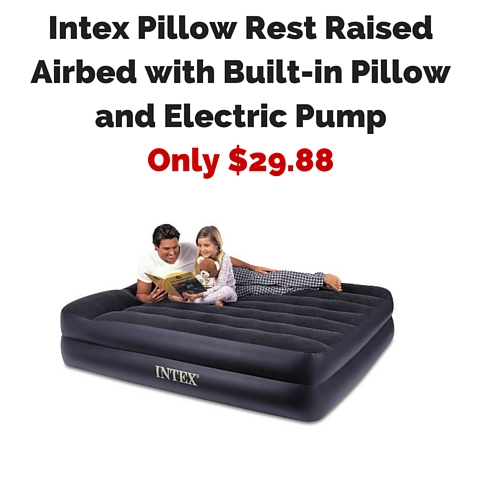 amazon lowest price intex pillow rest raised airbed with. Black Bedroom Furniture Sets. Home Design Ideas