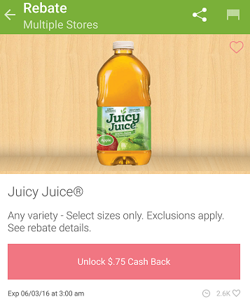 juicy juice ibotta offer
