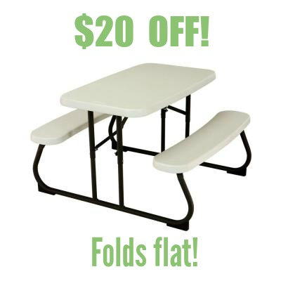 Merveilleux Kids Folding Table With Benches