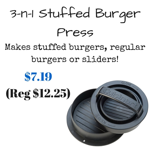 Three in one burger press