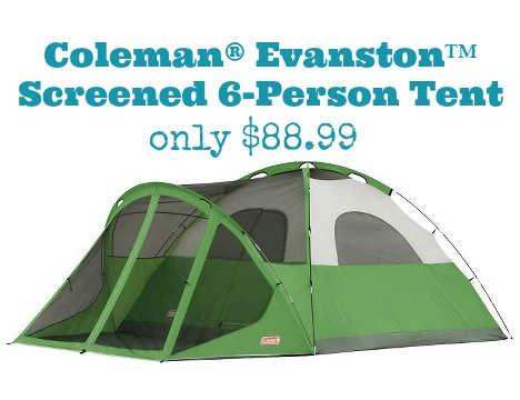 Need a new tent? Head over to Target.com where you can snag this Coleman Evanston 6-Person Screened Tent for only $88.99 (reg $178.99) shipped to your door!  sc 1 st  MyLitter & Target: Coleman Evanston 6-Person Screened Tent only $88.99 ...