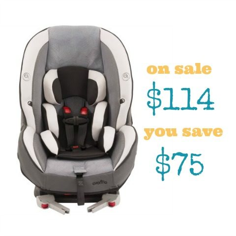 Walmart Evenflo Momentum DLX Convertible Car Seat Only 114