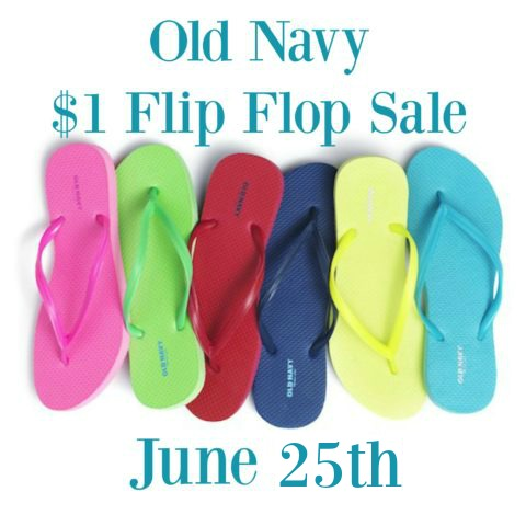 c54d0e5e9 Old Navy stores will be hosting their awesome  1 Flip Flop Sale on Saturday