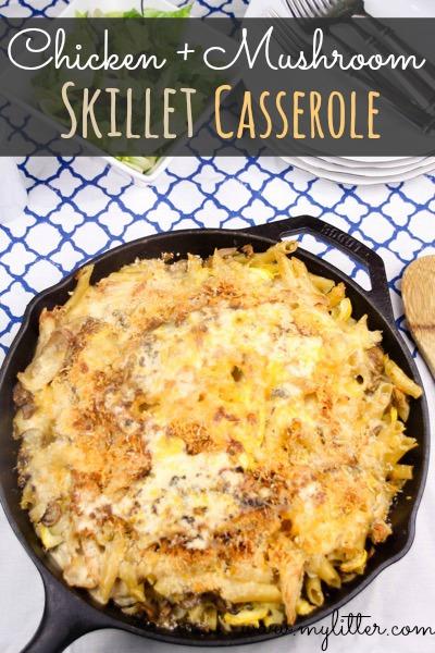 Chicken Mushroom Skillet Casserole recipe