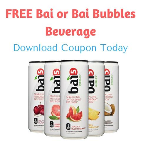 FREE Bai or Bai Bubbles Beverage