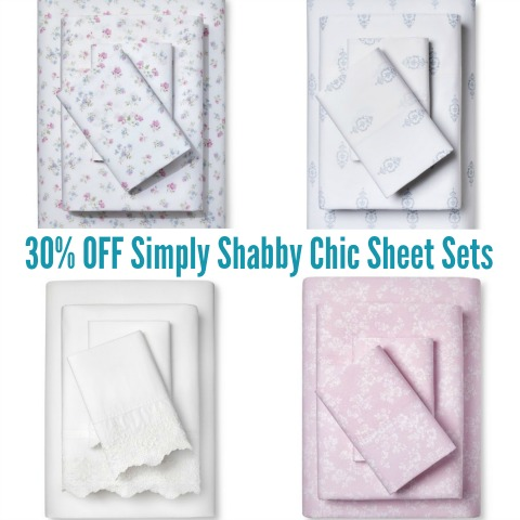 Target 30 Off Simply Shabby Chic Sheet Sets Today Only